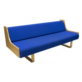 DANISH MODERN BEECH WOOD SOFA DAY BED