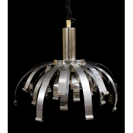 ITALIAN MODERN NICKEL SINGLE LIGHT CHANDELIER