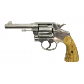 COLT NEW SERVICE REVOLVER, NICKEL, .38 CAL.