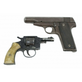 (2) SPAIN .32 AUTO PISTOL, GERMAN .22LR REVOLVER