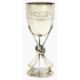 BRITISH COLONIAL SILVER RIFLE CLUB TROPHY CUP