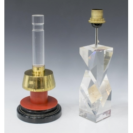 (2) ITALIAN MODERN LUCITE TABLE LAMPS
