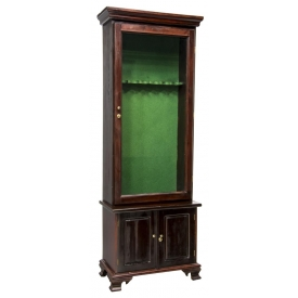 LONG GUN FITTED GLASS FRONT DISPLAY CABINET