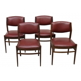 (4) ITALIAN MID-CENTURY MODERN DINING SIDE CHAIRS