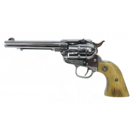 RUGER SINGLE-SIX .22 CALIBER NICKEL REVOLVER