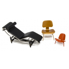 (3) VITRA DESIGN MUSEUM MINIATURE CHAIRS, LC4