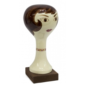 STANGL POTTERY FIGURAL LADYS HEAD HAT STAND